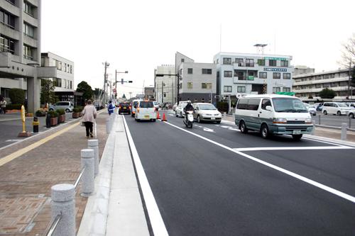 庁舎前の道路完成