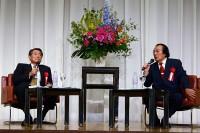 愛川欽也さんと埼玉新聞社社長の丸山晃氏