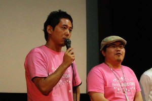 「SR サイタマノラッパー」入江悠監督(左)と主演の駒木根隆介さん(右)