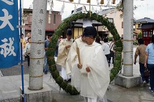 川越八幡宮「茅の輪くぐり」