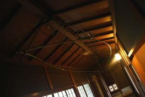 舟底天井に舟の彫刻