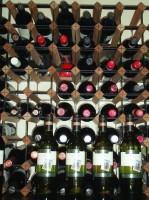 店内のワイン