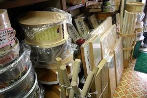 蕎麦打ちなど様々な道具類