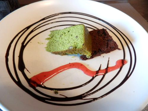 抹茶とチョコレートのパウンドケーキ