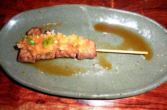 和牛串(おろしポン酢)