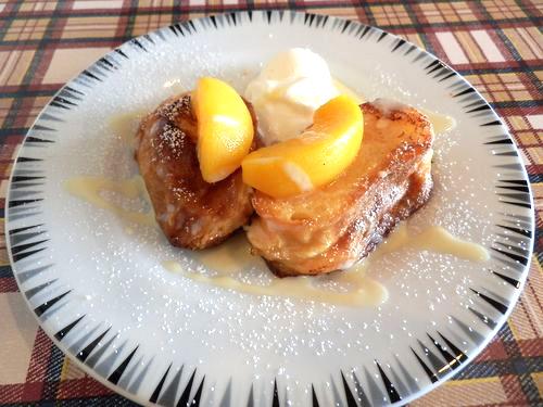 桃フレンチトースト