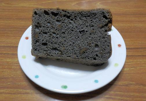 シフォンケーキ(黒ごま&くるみ)