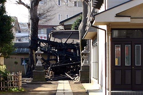 全焼した菅原神社