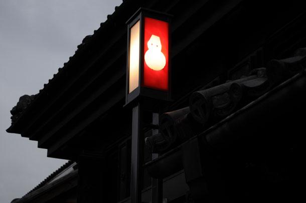 蔵の町の街灯
