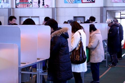 川越市長選投票日