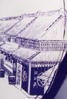 蔵の町並みのイラスト