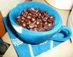 布製カップと珈琲豆