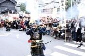 「小江戸川越春まつり」オープニングイベント「火縄銃鉄砲隊」